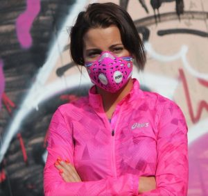 maska antysmogowa do biegania damska